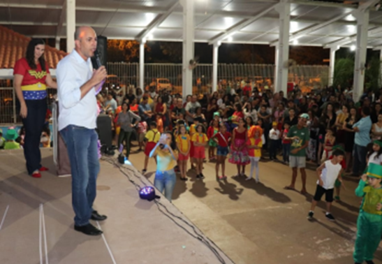 Deputado Ismael Crispin participa de Festa da Família da Escola Crivela em Pimenta Bueno