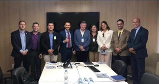 Ismael Crispin conhece hospital em São Paulo construído pelo sistema BTS
