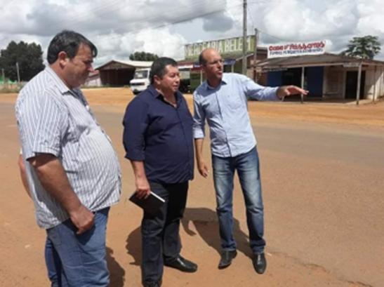 INFRAESTRUTURA | A pedido de Crispin Diretor do DER faz visita em São Miguel do Guaporé