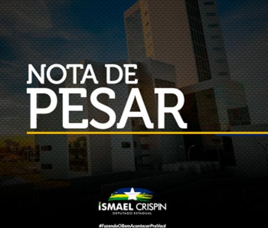 Nota de pesar pelo falecimento da senhora Iraselma Siebra de Lima Souza