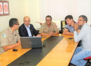 SEGURANÇA – Ismael Crispin, vereadores e Comando-Geral do BM empenhados na construção de quartel em Pimenta Bueno
