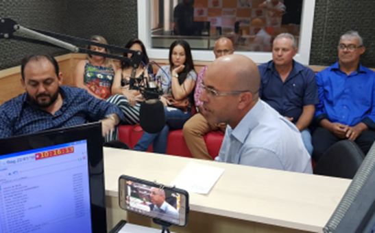 ENTREVISTA – Deputado Ismael Crispin acompanha agenda do Presidente Laerte Gomes e concedem entrevistas às rádios