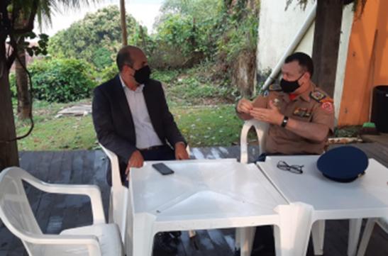 Ismael Crispin discute construção de unidade do Corpo de Bombeiros em São Miguel do Guaporé