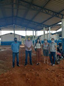 Ismael Crispin visita obras na escola Maria de Abreu Bianco em Monte Negro