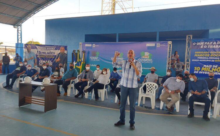 Ismael Crispin anuncia obras em parceria com o governo estadualpara transformar a realidade de São Miguel do Guaporé