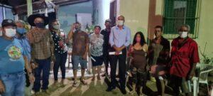 Ismael Crispin visita comunidade da ilha do baixo Candeias e verifica demandas