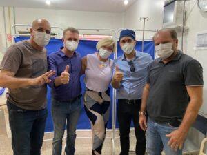 Ismael Crispin visita hospitais de Cacoal e de São Francisco do Guaporé
