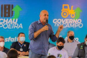 Ismael Crispin prestigia lançamento do programa Tchau Poeira em Corumbiara e Pimenteiras