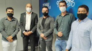 Ismael Crispin e prefeito de Parecis garantem pavimentação asfáltica e recapeamento