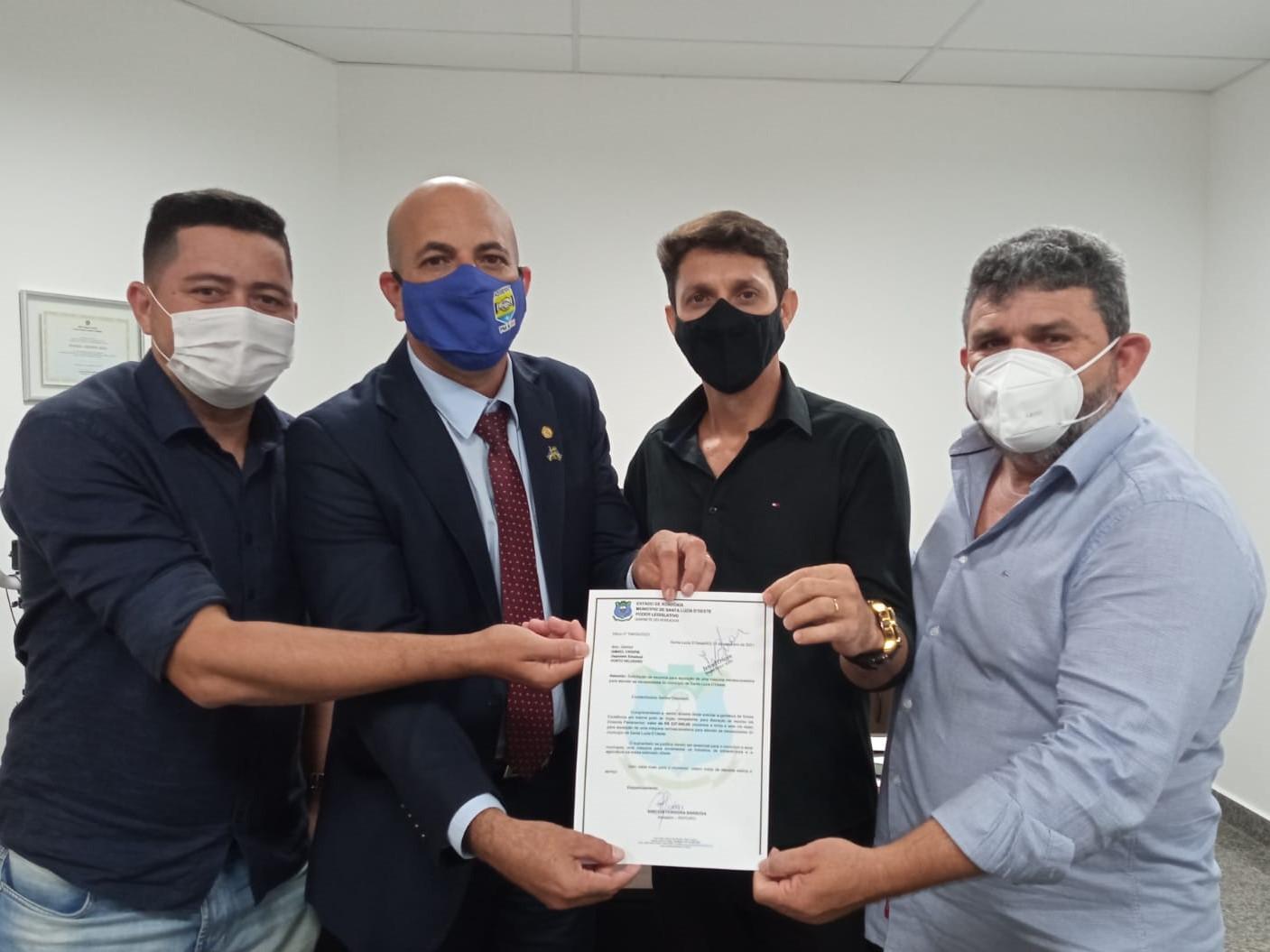 Deputado Ismael Crispin garante mais investimentos para Santa Luzia D'Oeste